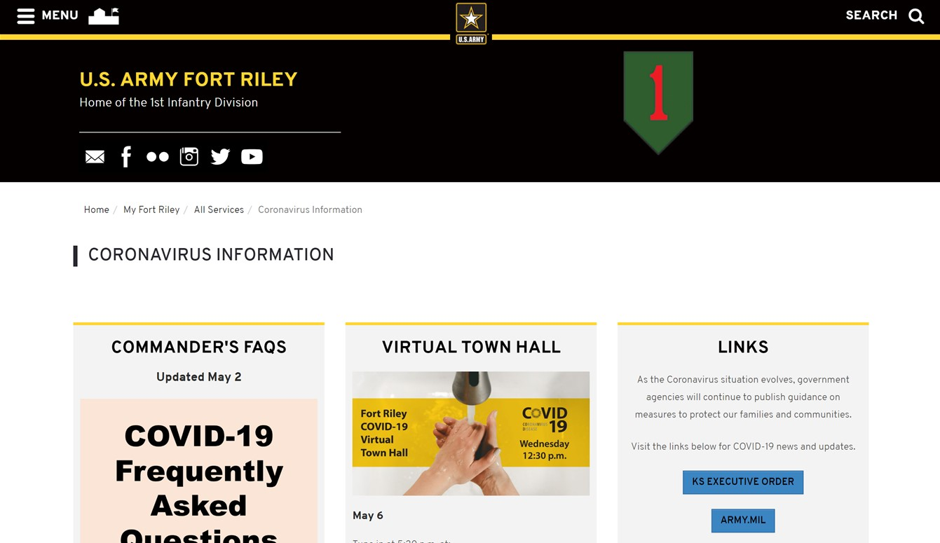 Fort Riley COVID - Click to View