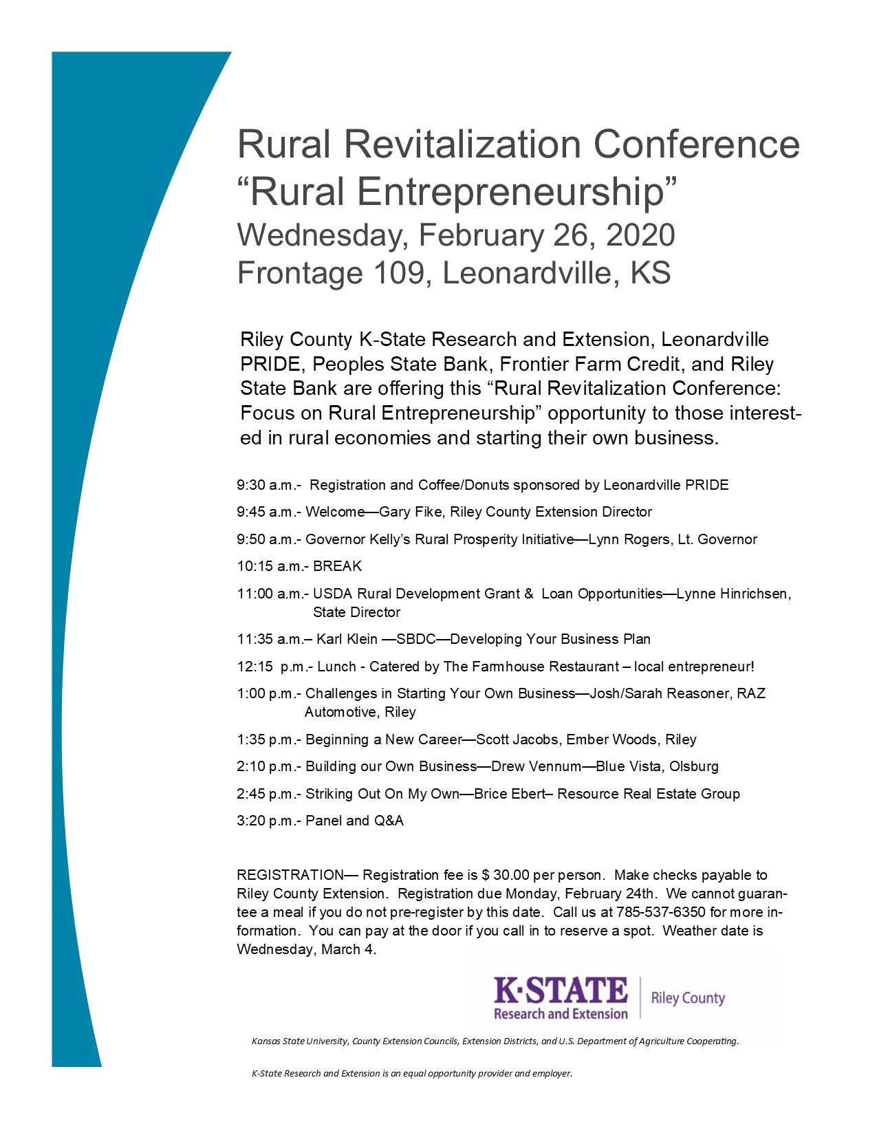 Rural Entrepreneurship Conference - 2-26-20